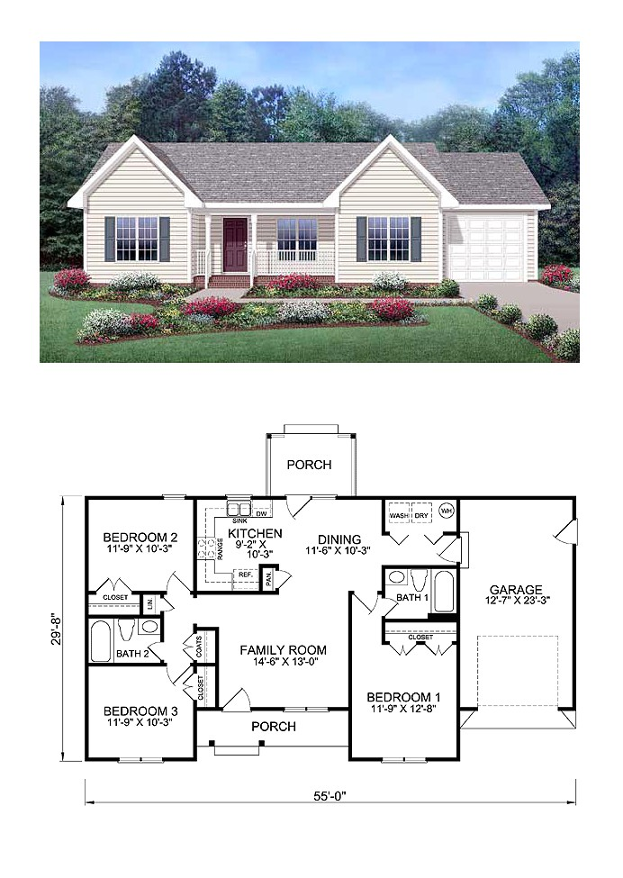 small house plans country living
