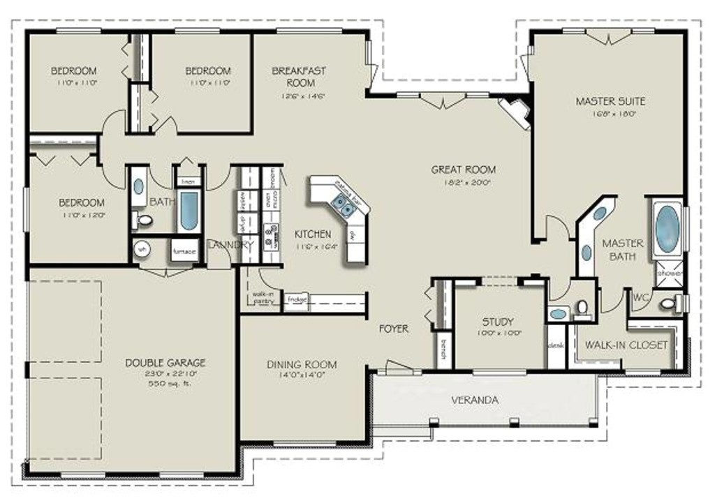 2563 square feet 4 bedrooms 3 bathroom country house plans 2 garage 31177