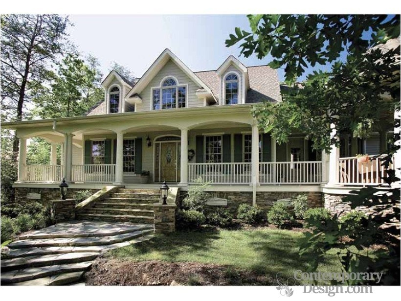 247 ranch style house with wrap around porch