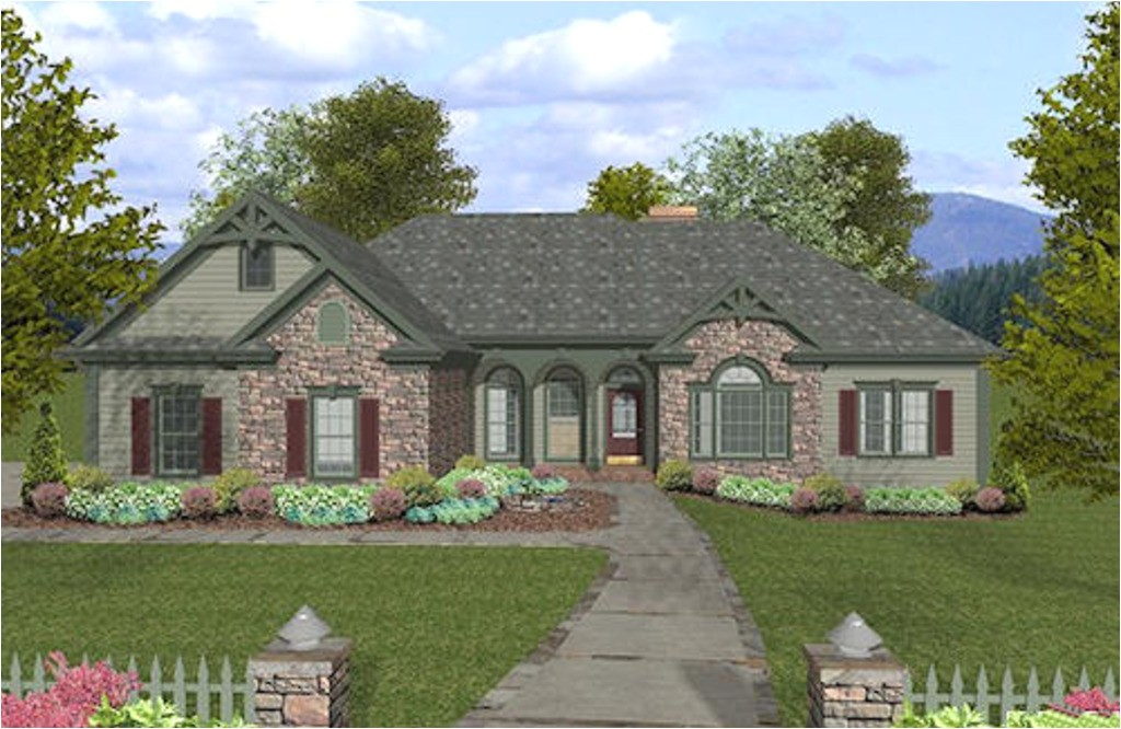 Craftsman House Plans 2000 Square Feet Traditional Style House Plan 4 Beds 2 5 Baths 2000 Sq Ft