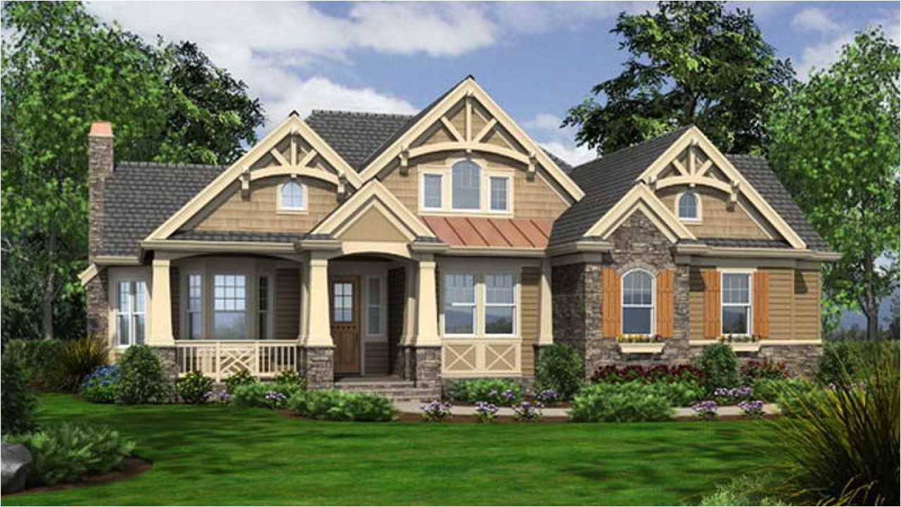 Craftsman Style Home Plan One Story Craftsman Style House Plans Craftsman Bungalow