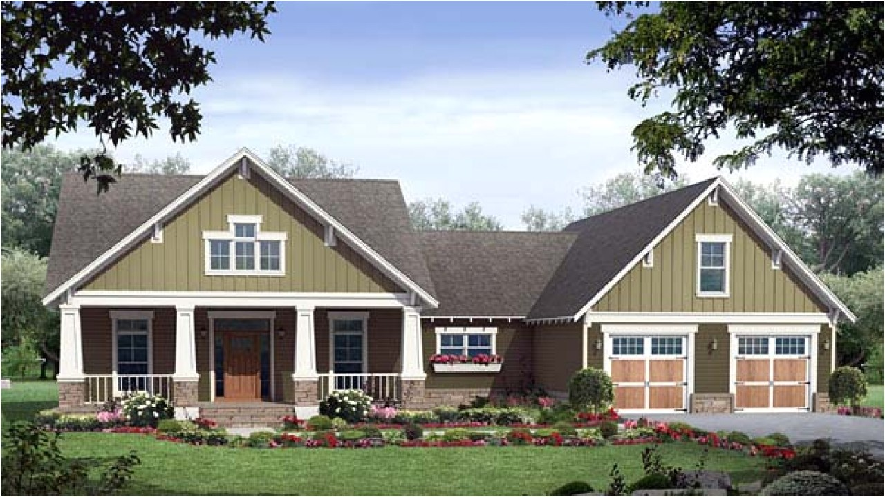 Craftsman Style Home Plan Single Story Craftsman House Plans Craftsman Style House