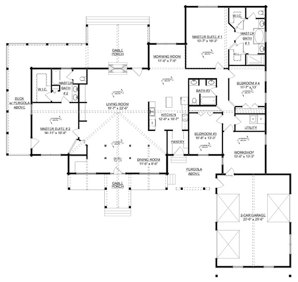 craftsman style homes floor plans new 55 craftsman with open floor plans home plans house plans floor 2