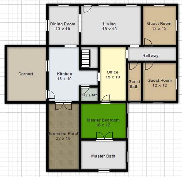 surprising home floor plans construction modern home designs using smart draw floor plan involved the size for every rooms inside house