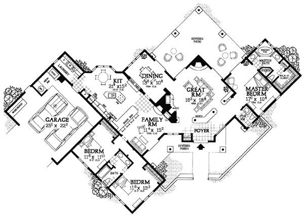 creative sante fe style home plan 81408w