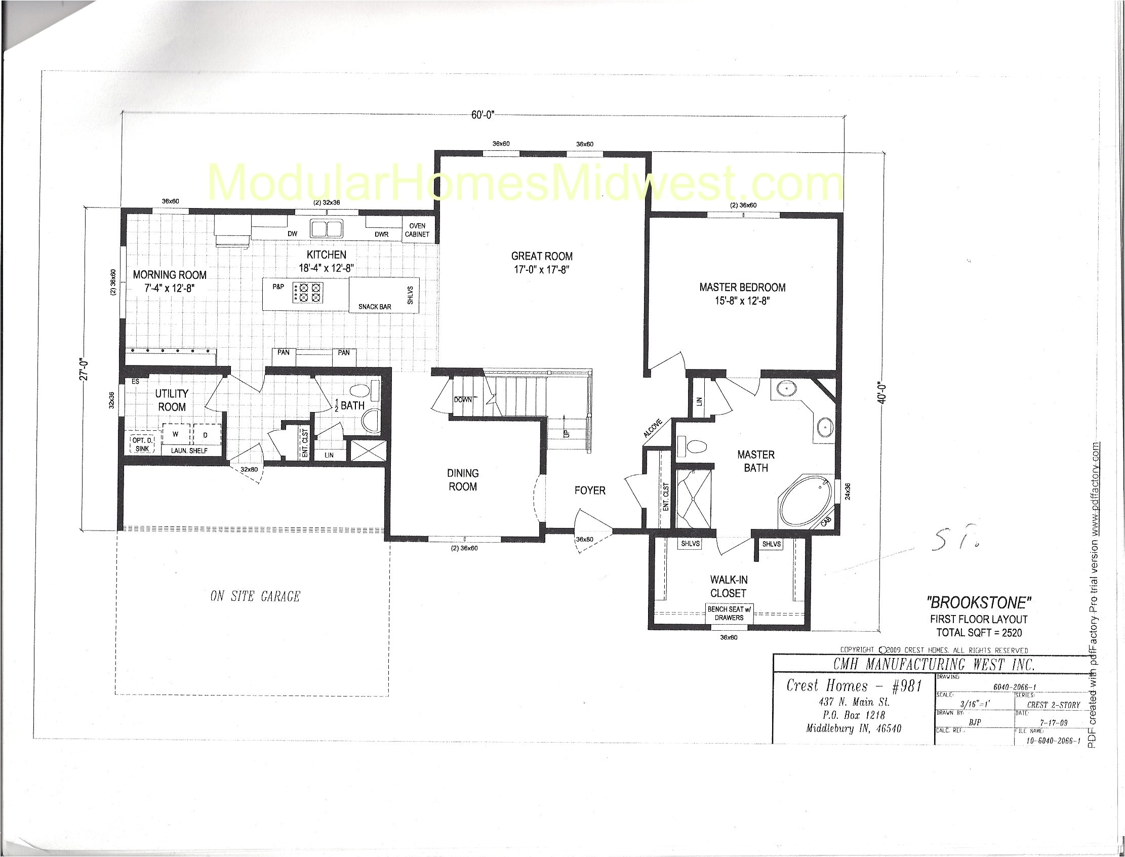 brookstone crest homes two story floor plan 2