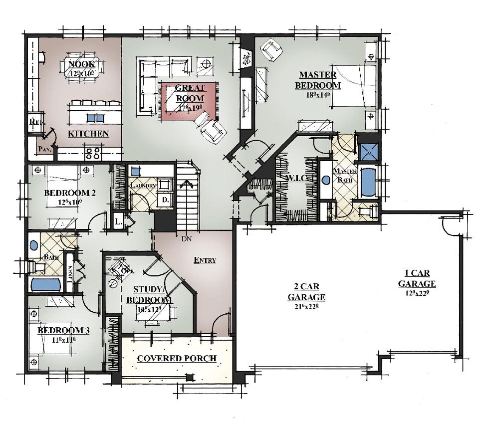 custom home floor plans free
