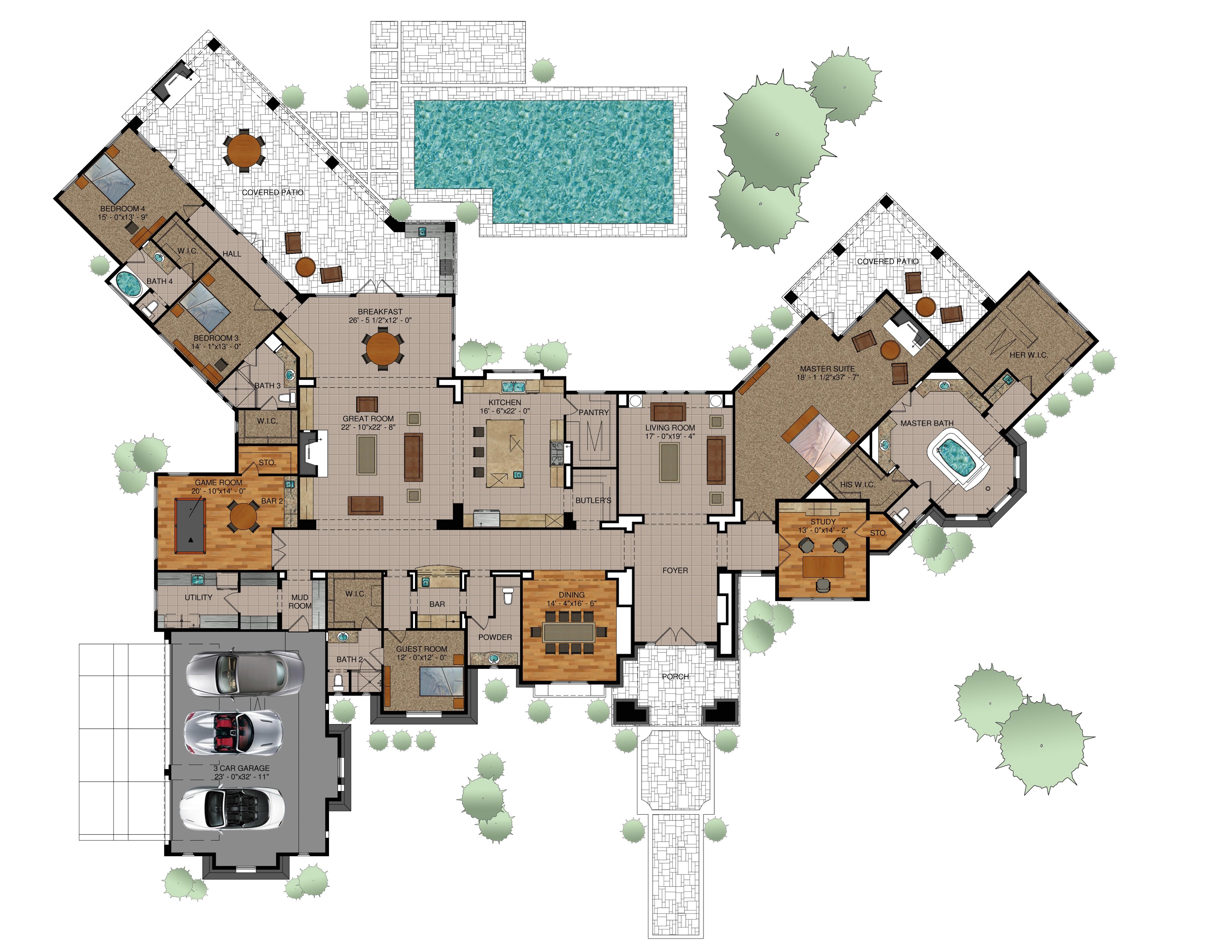 available custom floor plans
