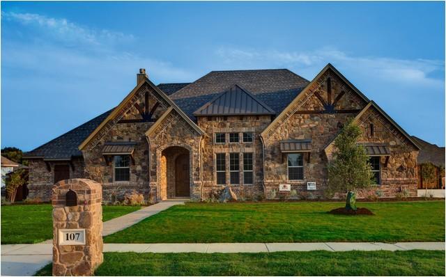 bailee custom homes rustic exterior dallas