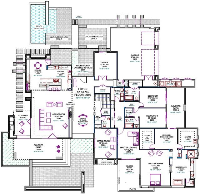Custom Modern Home Plans Custom House Plans southwest Contemporary Custom Home