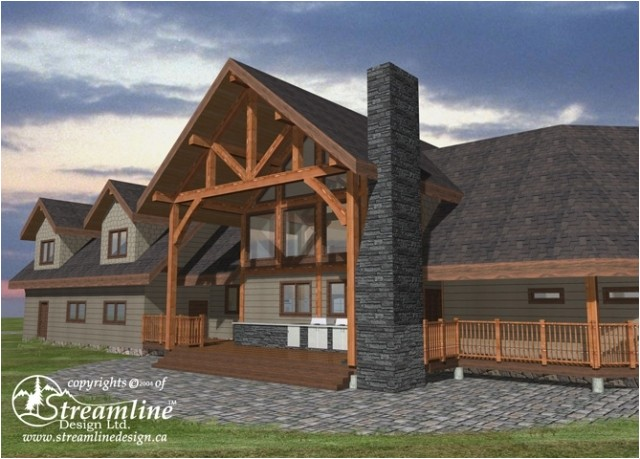 Custom Timber Frame Home Plans Kalum Timber Frame Plans 9196sqft Streamline Design