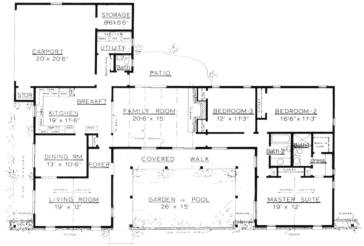 ranch style floor plans free