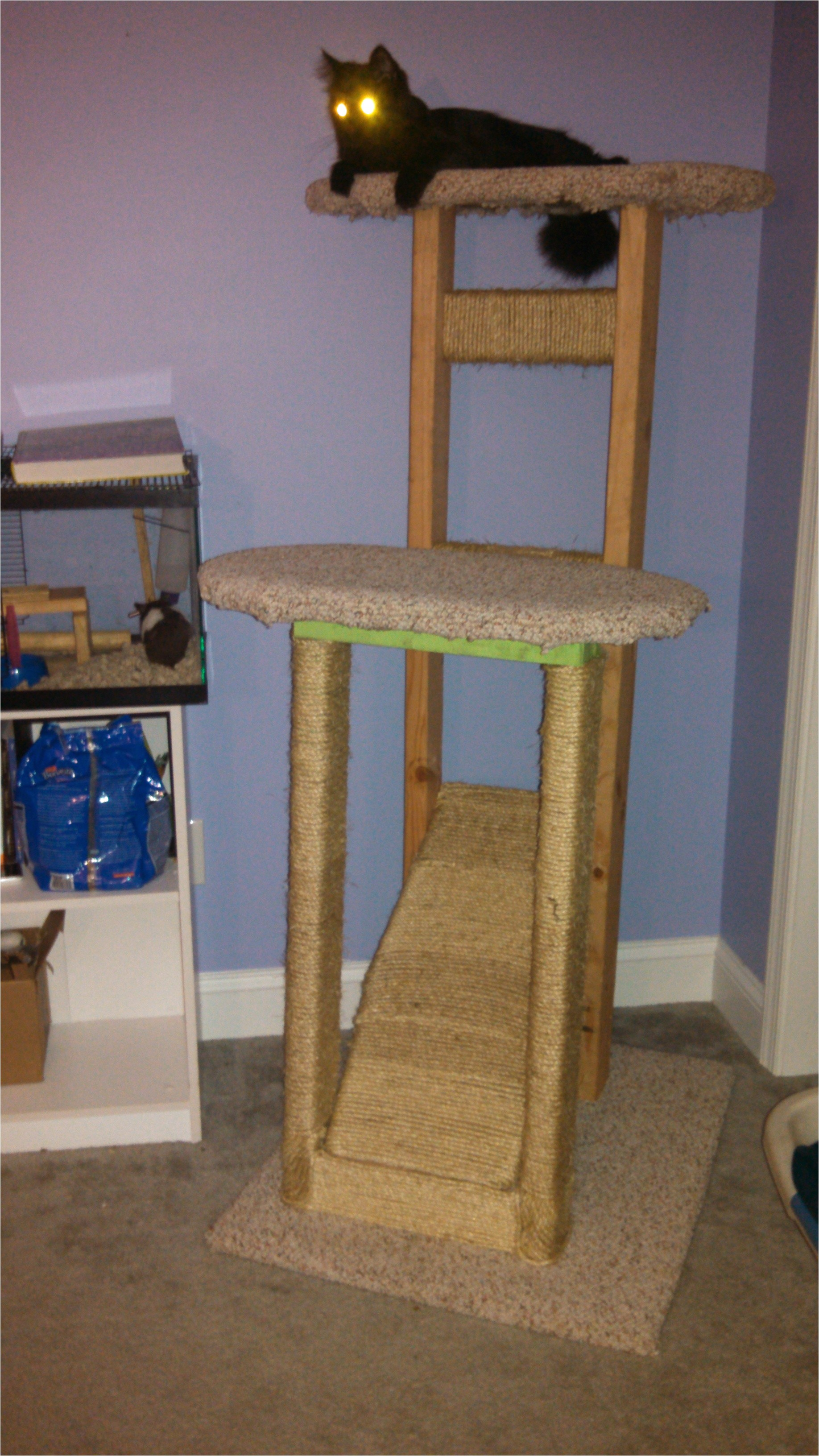 homemade cat tree 2