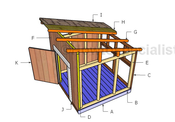 duck house roof plans
