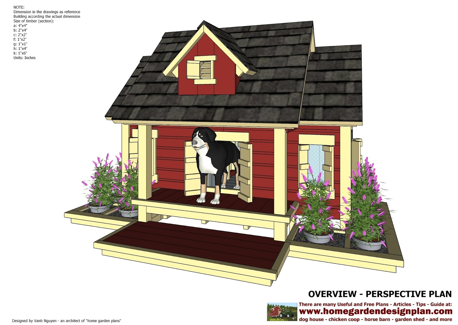 dh301 insulated dog house plans