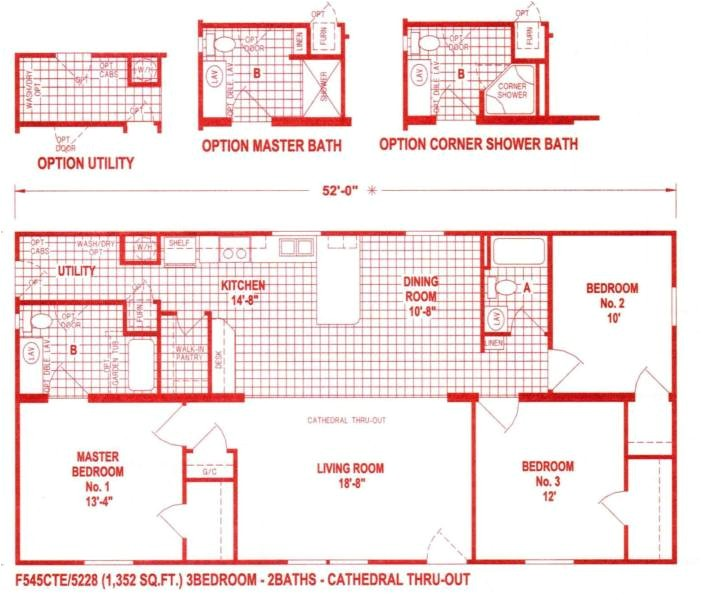 18 foot wide mobile home floor plans