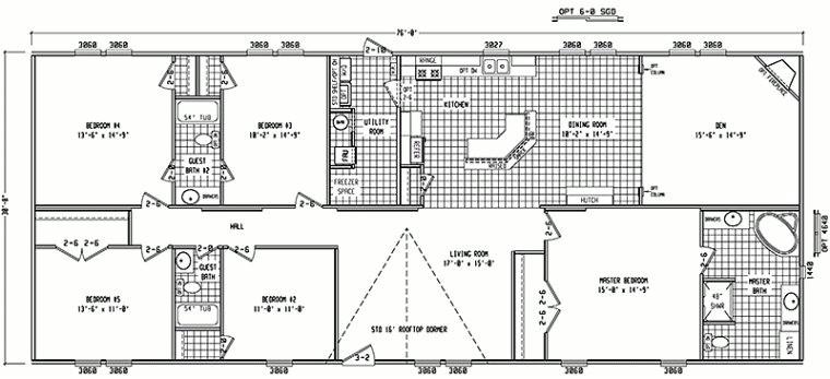 best 4 bedroom double wide mobile home floor plans