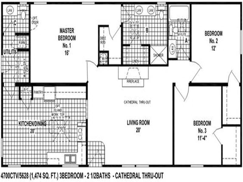 clayton double wide mobile homes floor plans