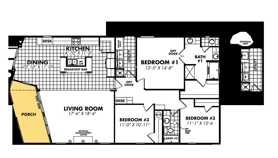 double wide mobile home plans