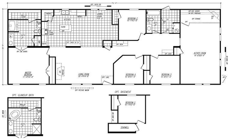 fleetwood mobile home floor plans and prices manufactured home throughout 4 bedroom double wide mobile home floor plans