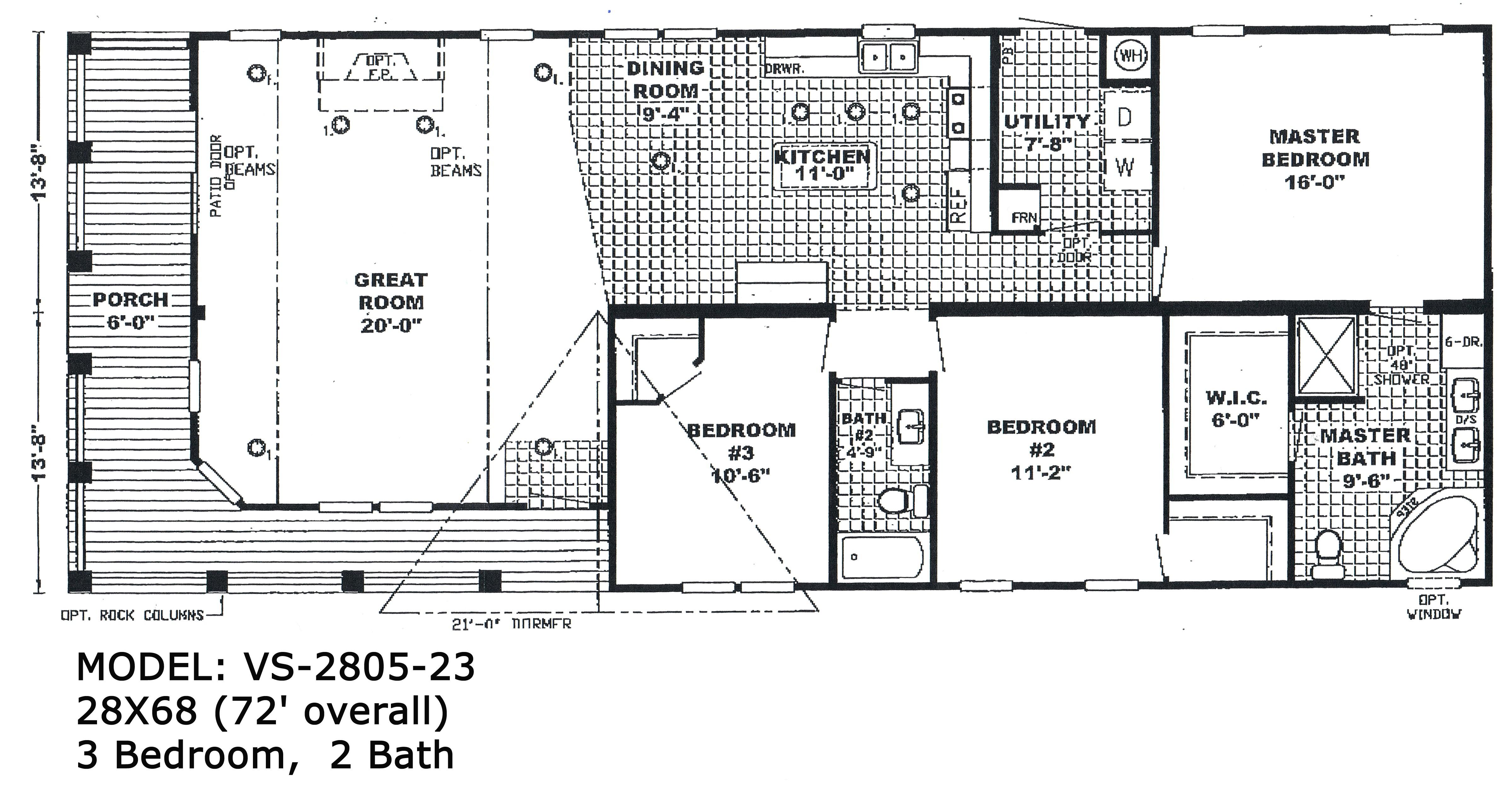 Double Wide Trailer Homes Floor Plans Double Wide Floorplans Mccants Mobile Homes