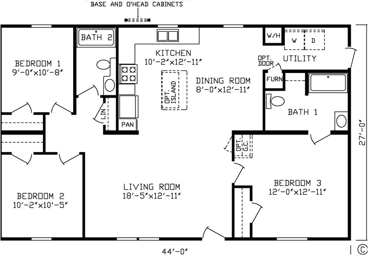 double wide house trailers floor plans