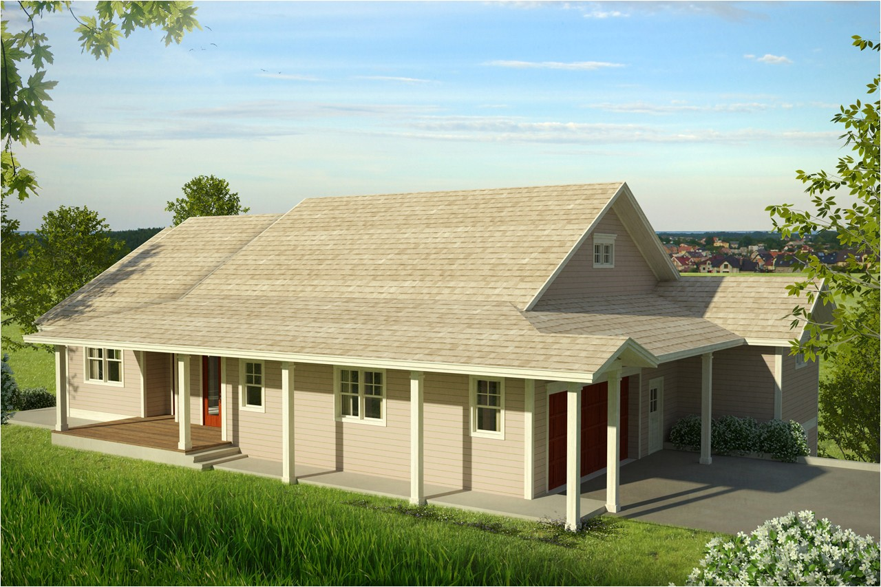 new country house plan fits downhill sloping lot comments