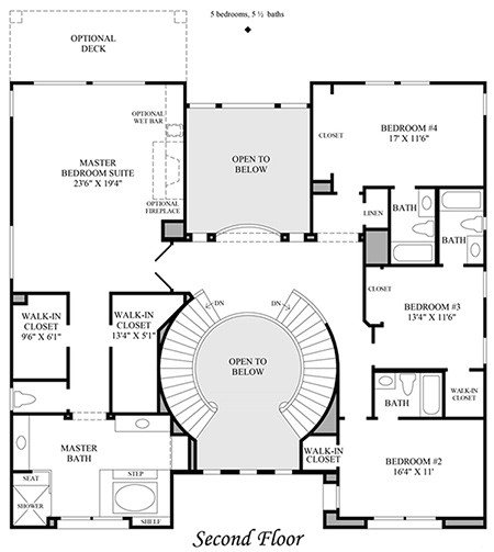 house plans with dual staircases