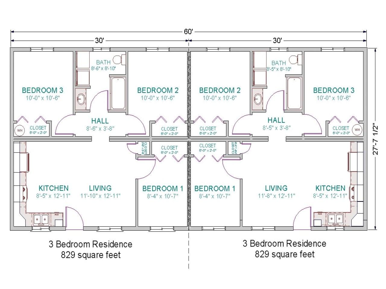 Duplex Home Design Plans 3 Bedroom Duplex Floor Plans Simple 3 Bedroom House Plans