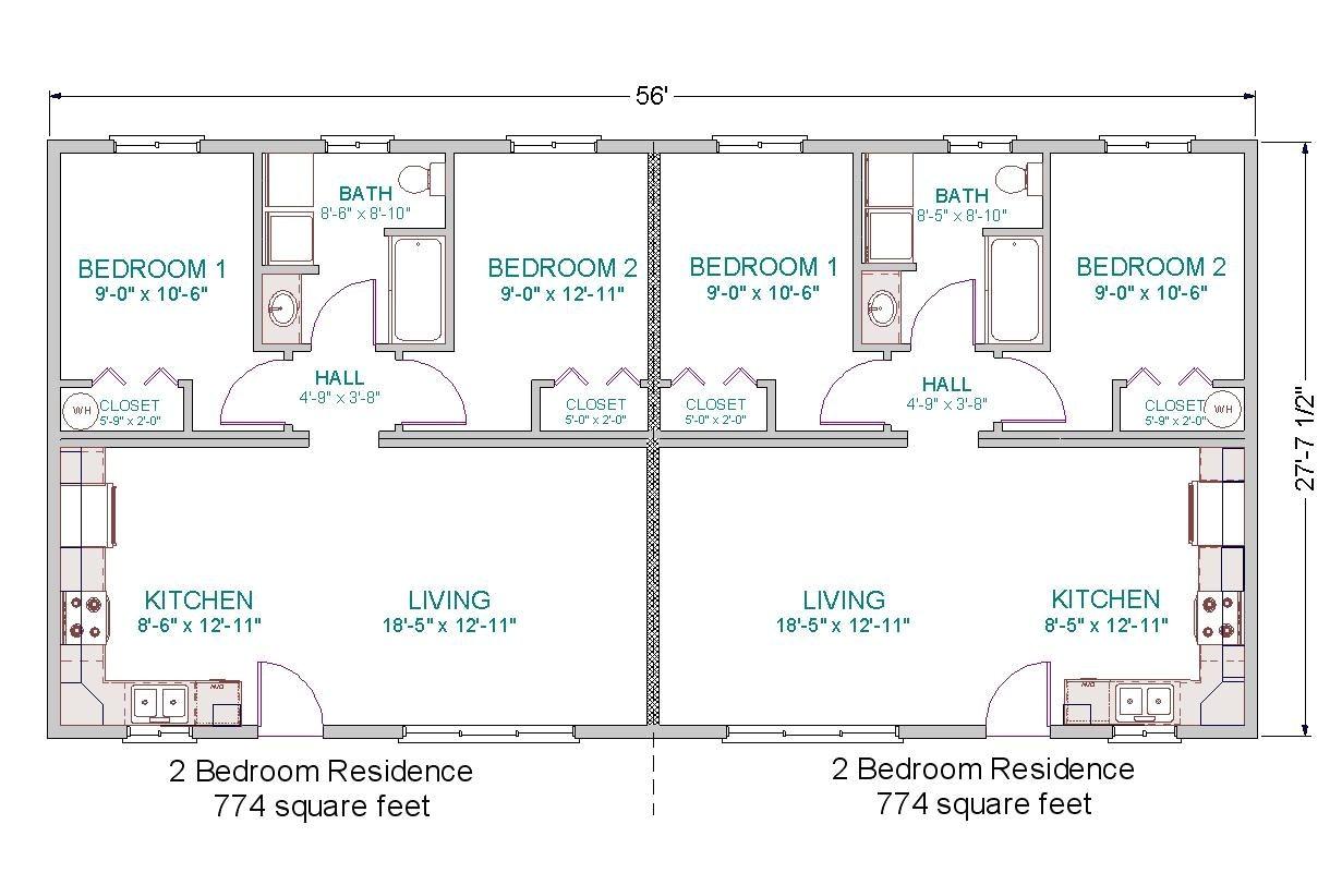 Duplex Home Design Plans Simple Small House Floor Plans Modular Duplex Tlc