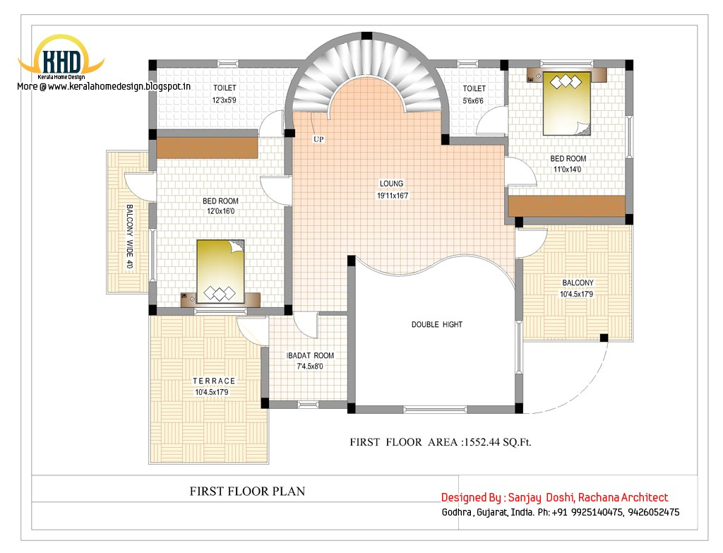 duplex house plan and elevation 3122 sq