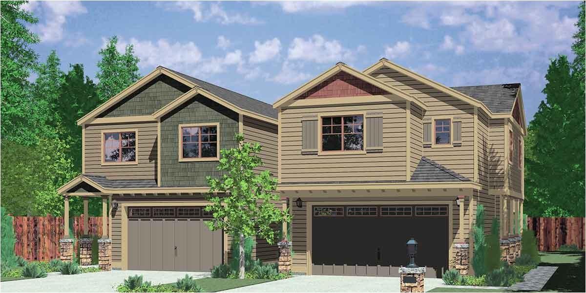 Duplex Home Plans with Garage Corner Duplex House Plans Duplex House Plans