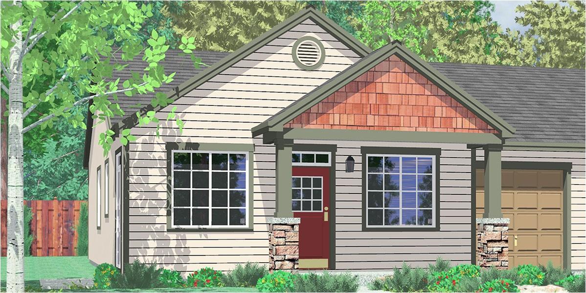 Duplex Home Plans with Garage Duplex House Plans One Story Duplex House Plans D 590