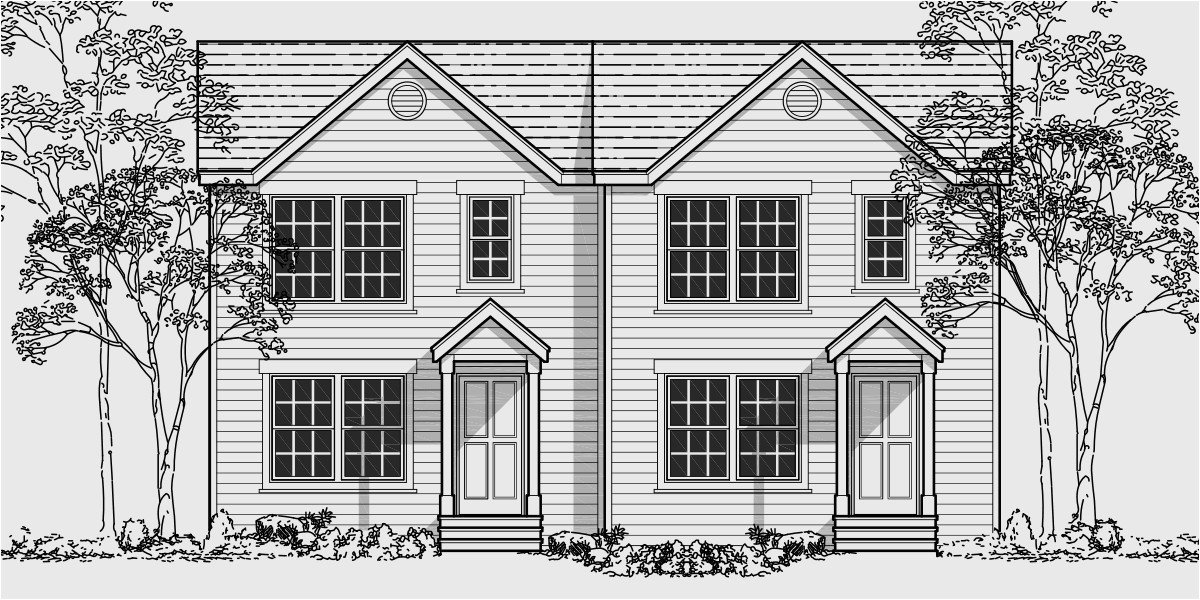 Duplex Home Plans with Garage Narrow Lot Duplex House Plans ... on narrow lot house plans with garage, narrow lot floor plans, narrow lot house plan designs,