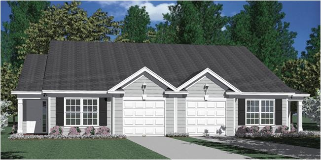Duplex Home Plans with Garage southern Heritage Home Designs Duplex Plan 1196 B