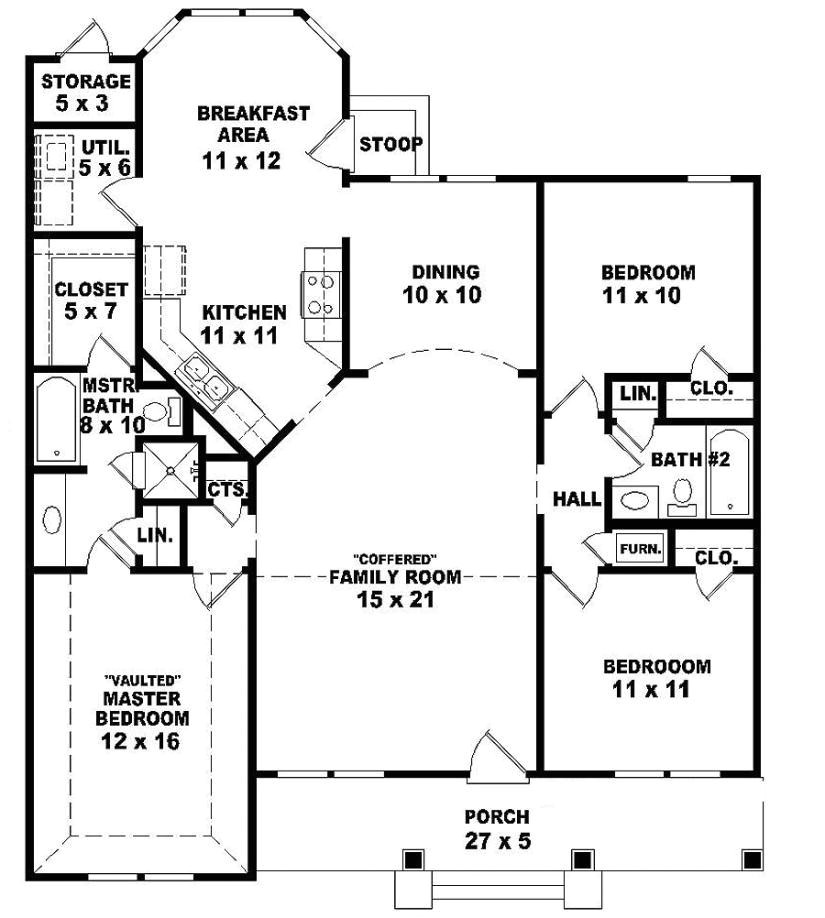 2 story ranch style house plans inspirational e story 3 bedroom 2 bath ranch style house plan