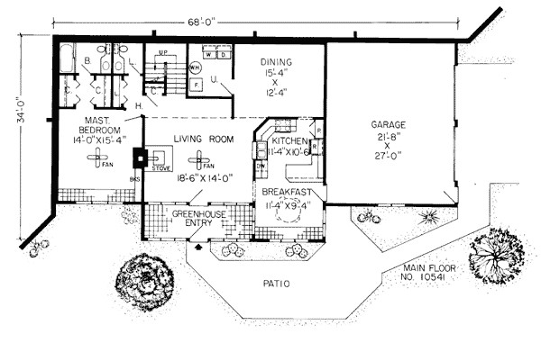 Earth Berm Home Plans Earth Sheltered Homes Floor Plans Earth Contact Home