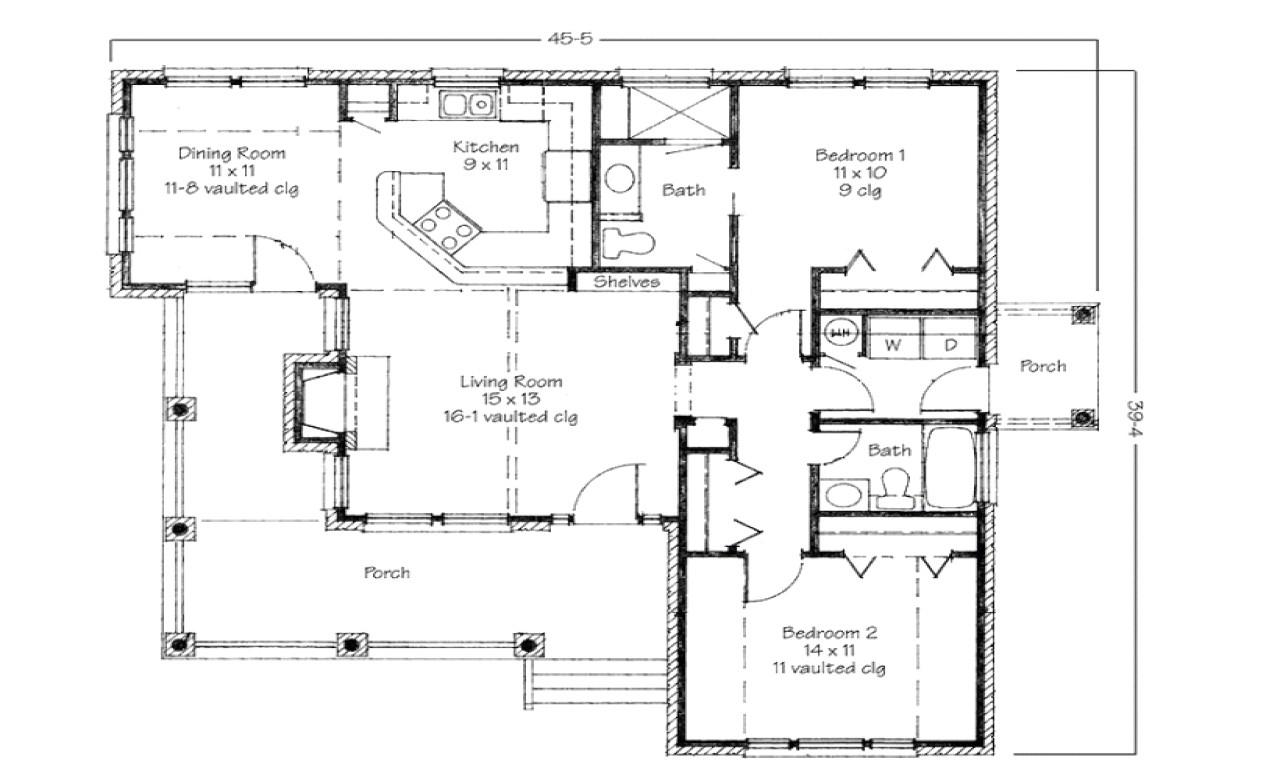 simple 4 bedroom home plans