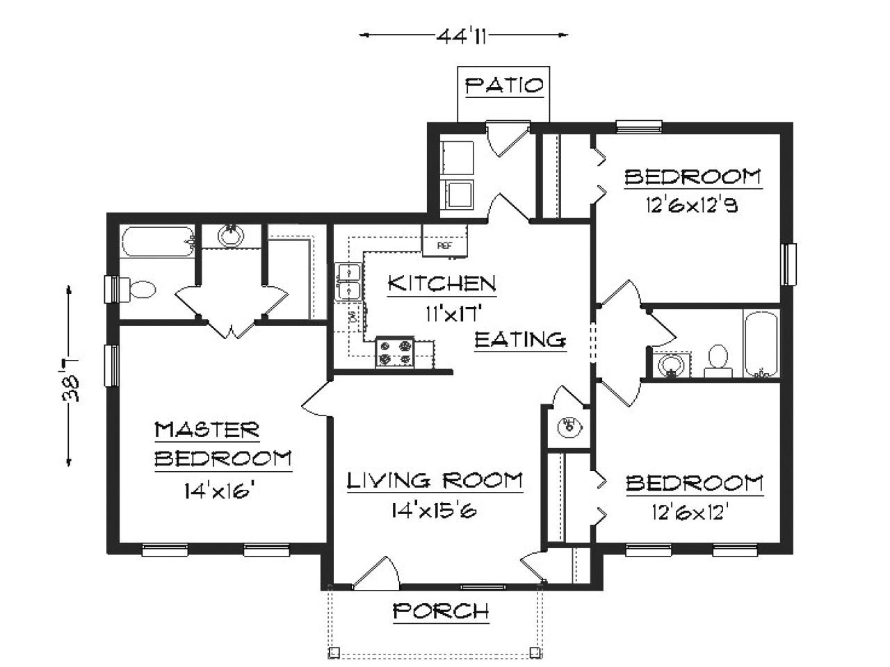 e90ca4d79c3baef0 simple house plans 3 bedroom house plans