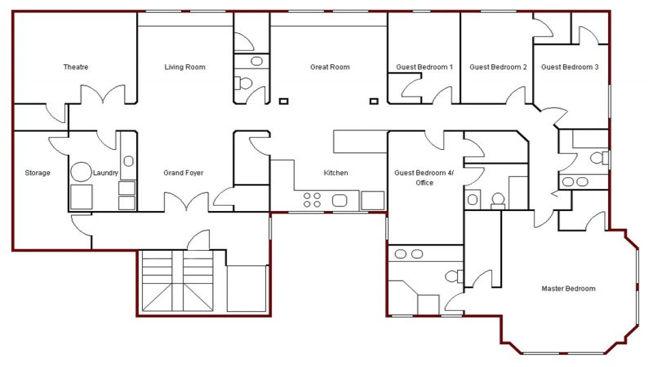 Easy House Plans To Draw Create Simple Floor Plan Simple