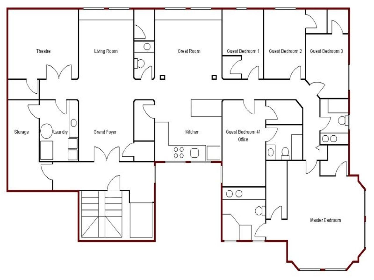 bd8febfed31a552b create simple floor plan simple house drawing plan