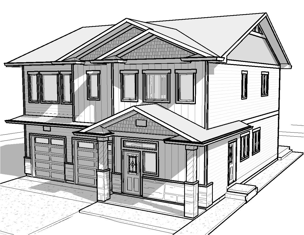 easy house drawings modern basic simple