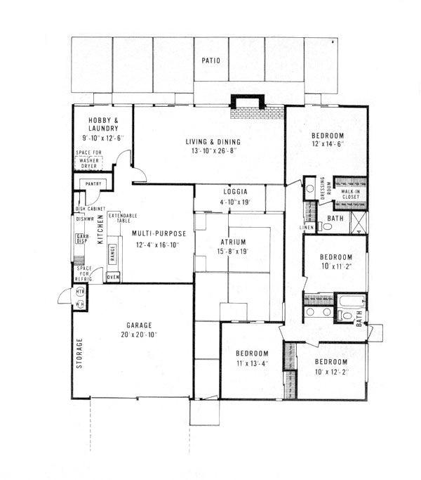 eichler floor plans