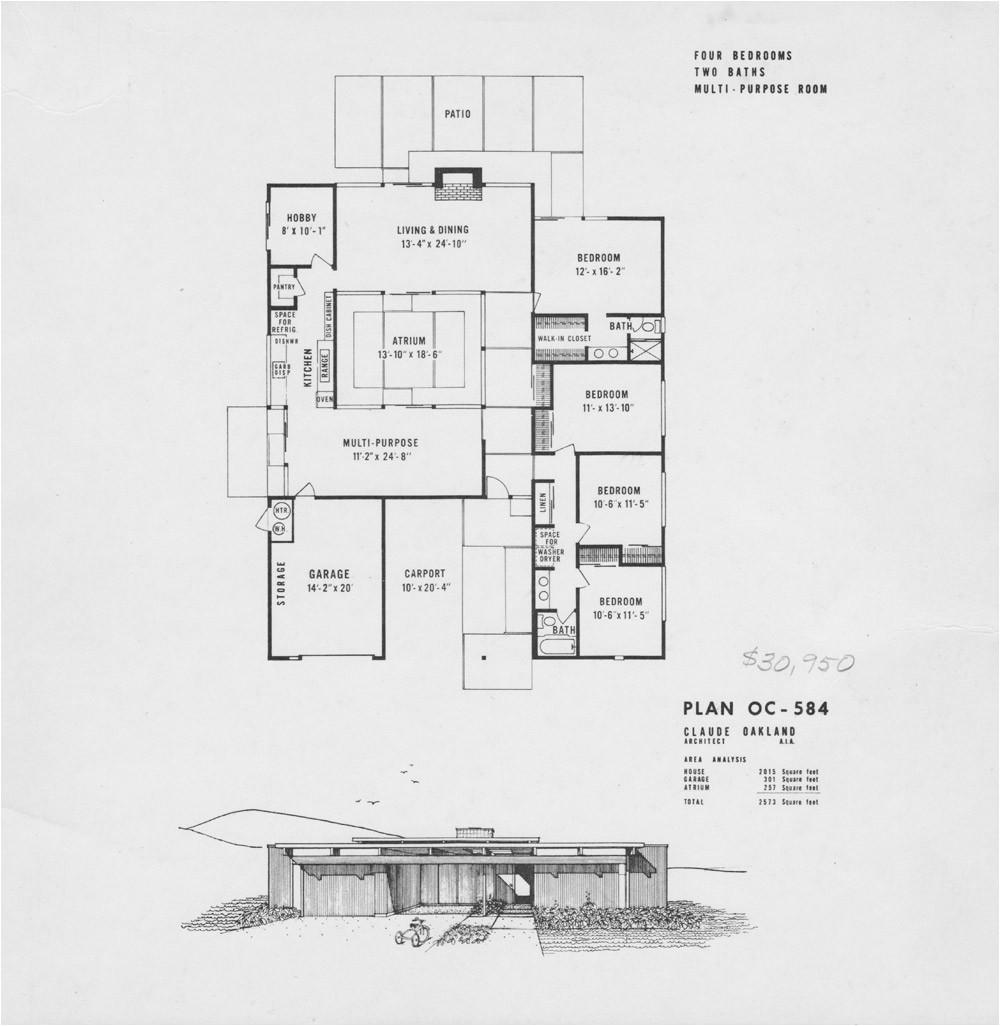 Eichler Home Floor Plans Eichler Floor Plans Fairhills Eichlersocaleichlersocal