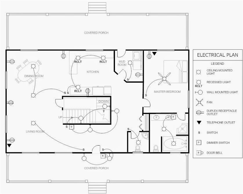 Electrical Symbols For House Plans House Electrical Plan Electrical