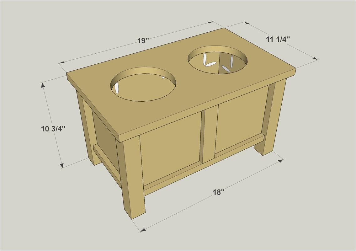 Elevated Dog House Plans Raised Dog Bowl Stand Buildsomething Com
