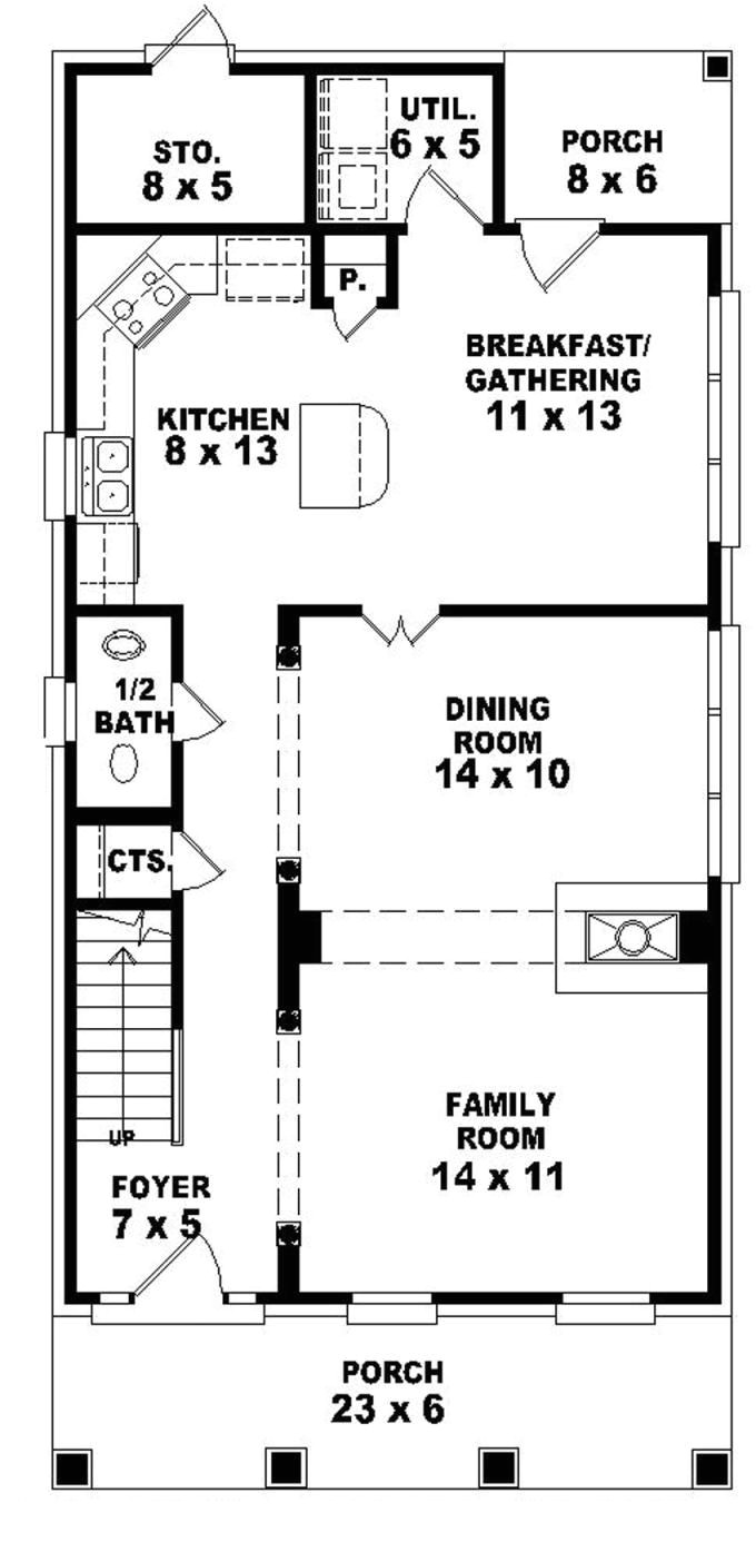 elevated house plans for narrow lots
