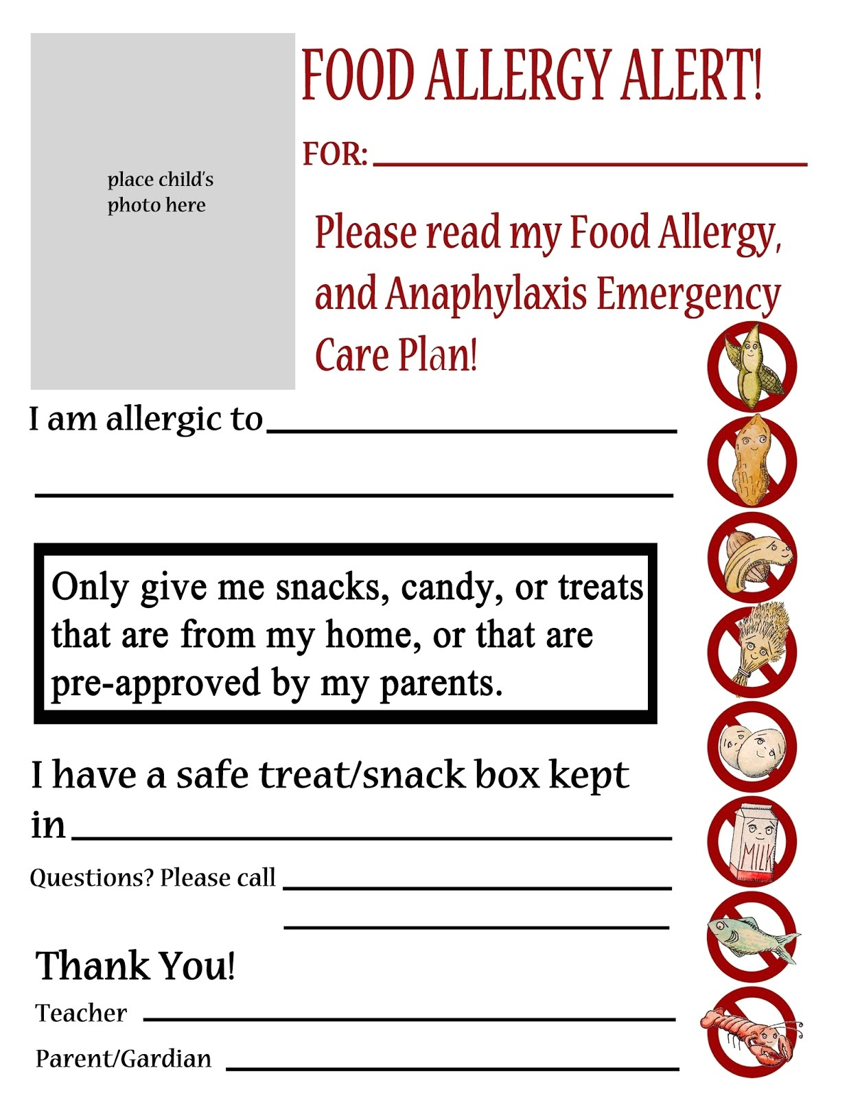 emergency menu plan nursing home