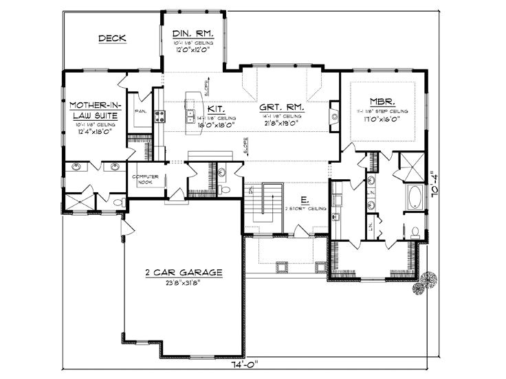 empty nesters house plans