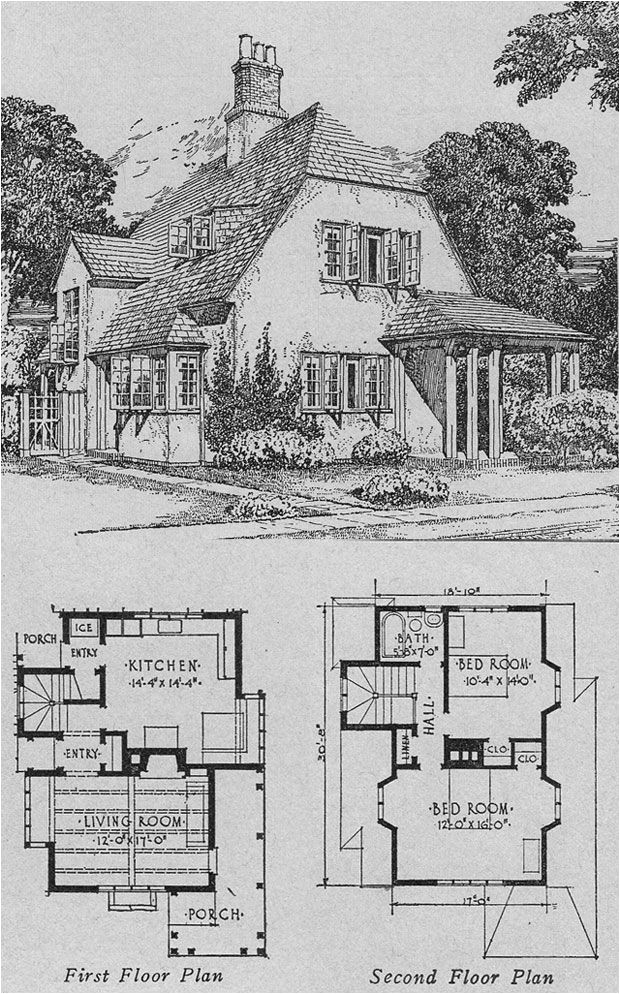 English Cottage Home Plans English Cottage Vintage House Plan B Architecture